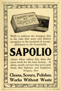 1911 Ad Enoch Morgan Sapolio Soap Household Cleaning Products Chores New GH4