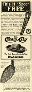 1911 Ad Cream City Coverless Roaster Baking Kitchen Appliances Milwaukee WI. GH4