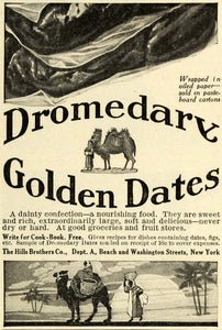 1911 Ad Dromedary Golden Dates Camel Egyptian Hills Brothers Confection Figs GH4