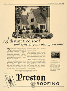 1926 Ad Keystone Preston Roofing Manufacturing Home - ORIGINAL ADVERTISING GHB1