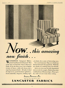 1928 Ad Amory Browne Lancaster Roman Stripes Cover - ORIGINAL ADVERTISING GHB1