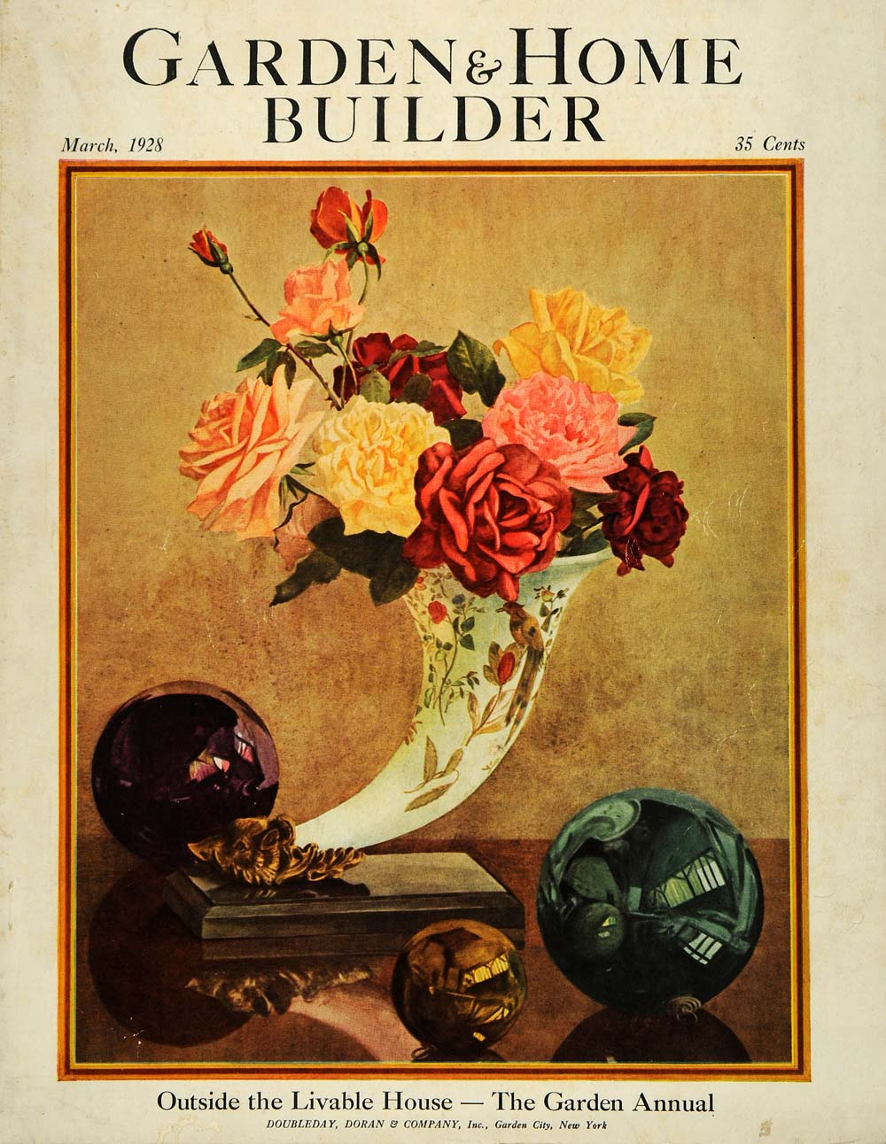 1928 Cover Garden Home Builder Flower Unique Vase - ORIGINAL GHB1