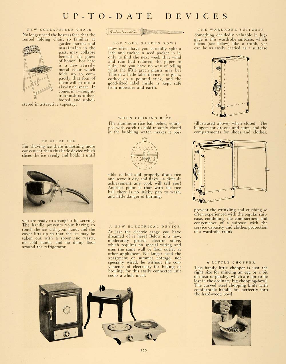 1927 Article Antique Home Appliances Ice Slicer Chopper - ORIGINAL GHB1