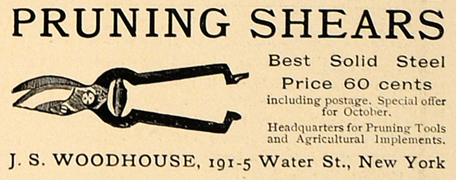 1905 Ad Pruning Shears Solid Steel Gardening Lawn Care - ORIGINAL GM1