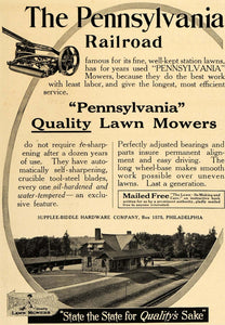 1916 Ad Supplee-Biddle Hardware Pennsylvania Lawn Mower - ORIGINAL GM1