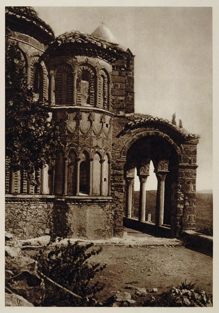 1928 Chapel Mystra Mistra Pantanassa Monastery Greece - ORIGINAL GREECE