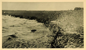 1927 Shore Hallig Oland Storm Waves Halligen North Sea - ORIGINAL HAL1