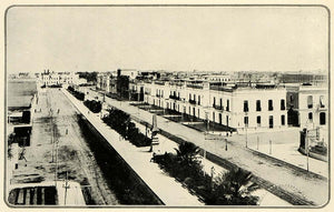 1920 Print Paseo Colon Peru Street View Architecture City Planning HB2