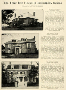 1920 Print Taggart House Frederick Wallack Architecture Indianapolis Indiana HB2