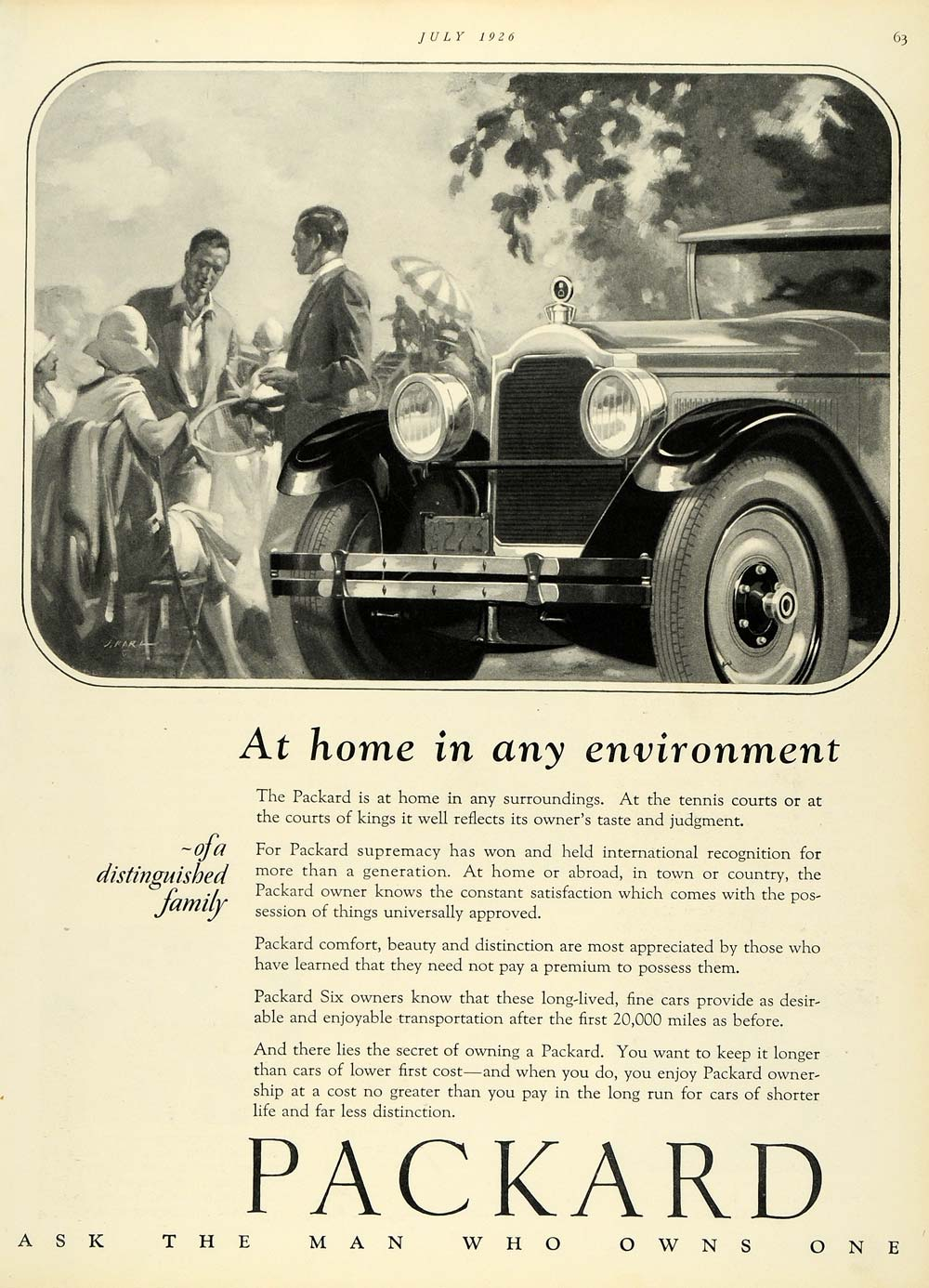 1926 Ad Automobile Vintage Motor Vehicle Packard Motor Car Co Transportation HB2