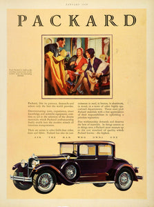 1929 Ad Packard Automobile Vehicle Wealthy Social Dress Fashion Auto Car HB2