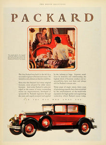 1929 Ad Packard Automobile Tool Mechanic Research Car Motor Transport Engine HB2