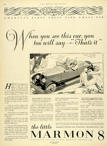 1927 Ad Marmon 8 Automobile Motor Car Indianapolis Vehicle Golfing Sport HB3