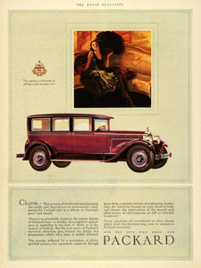 1927 Ad Packard Automobile Motor Car Vehicle Transportation Body Portrait HB3