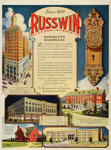 1927 Ad Russwin Russell Erwin Lincoln-Alliance Hardware Elks Temple Aberdeen HB3