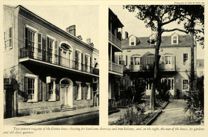 1929 Print Hermann Grima House New Orleans Georgian Architecture Armstrong HB3
