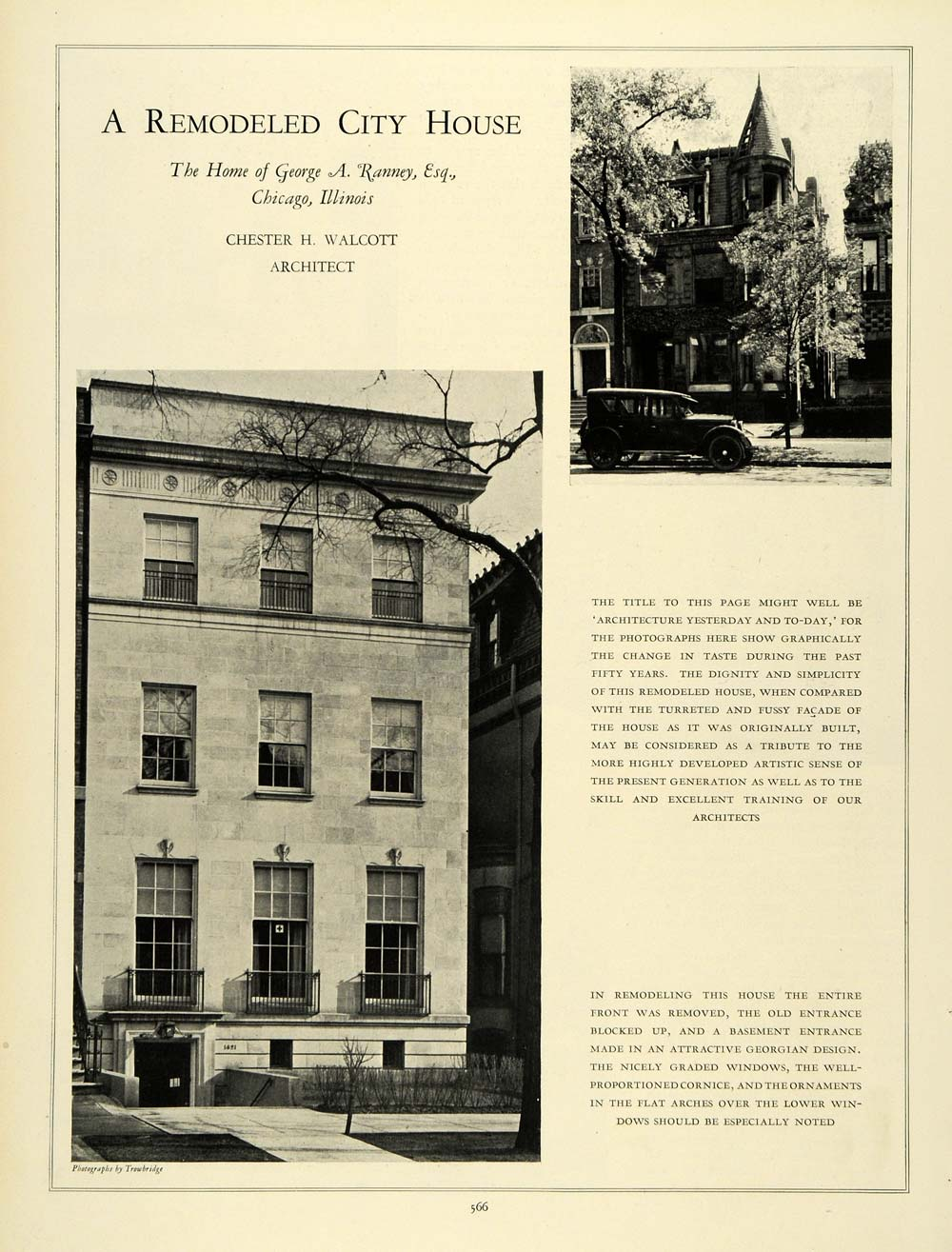 1926 Article George A  Ranney Home Inteiror Chicago Chester Walcott HB3