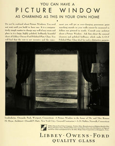 1932 Ad Libbey Owens Ford Glass Co Logo Window Roman H Heyn Home Decoration HF1
