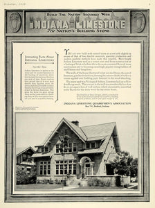 1925 Ad Indiana Limestone Quarrymen Bedford Builder - ORIGINAL ADVERTISING HG1