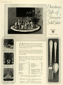 1924 Ad Silver Dinner Table Dining Rogers Lunt Bowlen - ORIGINAL ADVERTISING HG1