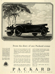 1925 Ad Packard Eight Model Automobile Car Vehicle - ORIGINAL ADVERTISING HG1