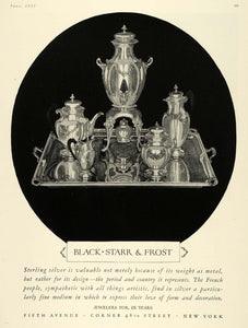 1925 Ad Black Starr Frost Jewelry Dining Set Kitchen - ORIGINAL ADVERTISING HG1