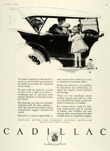 1923 Ad Fred Mizen Art Antique Cadillac Motor Car GM - ORIGINAL ADVERTISING HG1