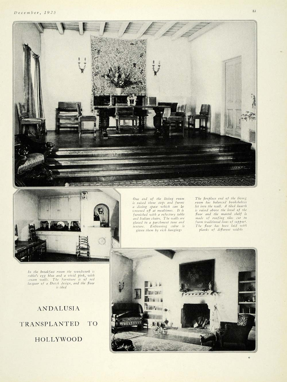 1925 Article California House Architecture Harry McAfee - ORIGINAL HG1