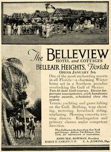 1923 Ad Belleview Hotel Belleair Heights Florida Golf John McE Bowman HG1