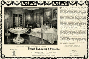 1923 Ad Josiah Wedgwood Pottery China Dish Table Decor Dinnerware Queen's HG1