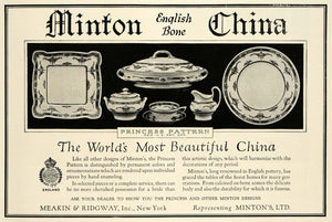 1925 Ad Meakin Ridgway Minton Bone China Princess Decor Dinning Set HG1