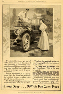 1911 Ad Ivory Soap Paste Car Wash Artist L. A. Shafer Clean Wash Polish HM1