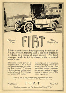 1912 Ad Fiat Motor Vehicles Fore-Door Touring Car Model Auto Vintage Italian HM1