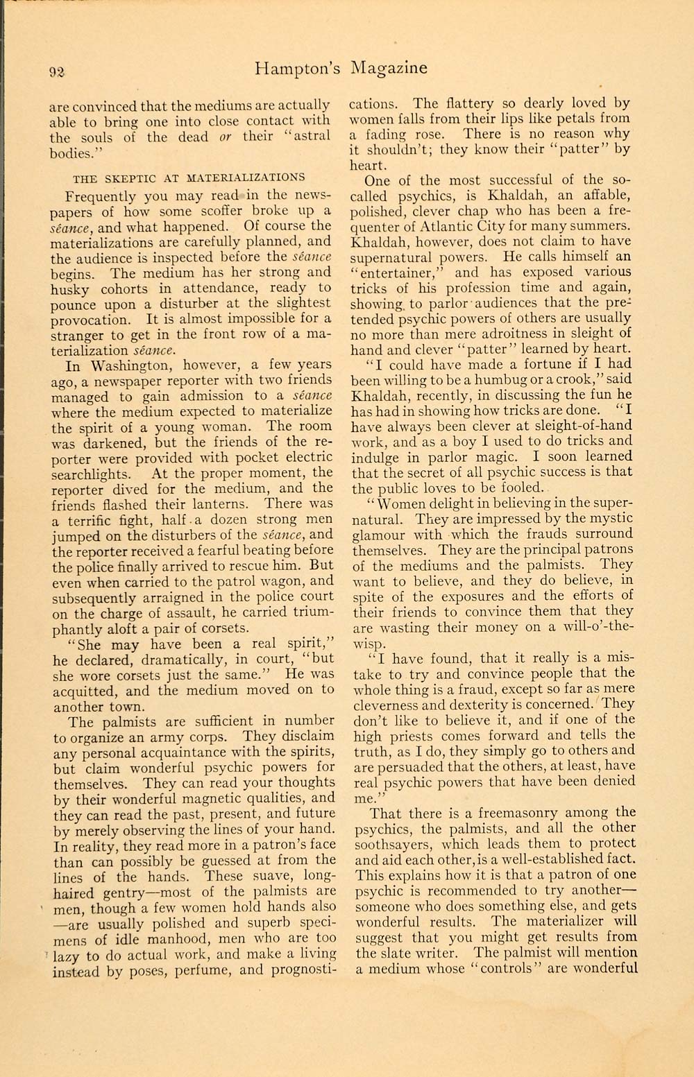 1911 Article Dealer Destiny McCardell Seer Fortune - ORIGINAL HM1