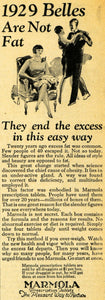 1929 Ad Marmola Prescription Tablets Weight Loss Fat - ORIGINAL ADVERTISING HOH1