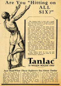 1929 Ad Tanlac Energy Louise Dykstra Joseph Stiles - ORIGINAL ADVERTISING HOH1