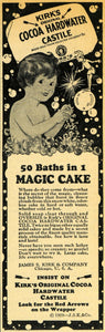 1929 Ad Kirk's Cocoa Hardwater Castile Magic Cake Soap - ORIGINAL HOH1