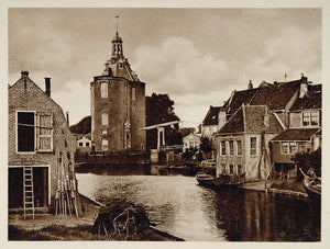 c1930 Enkhuizen Town Holland Netherlands Photogravure - ORIGINAL PHOTOGRAVURE