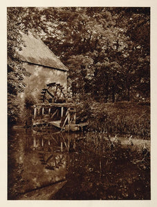 c1930 Watermill Mill Pond Vorden Holland Photogravure - ORIGINAL PHOTOGRAVURE