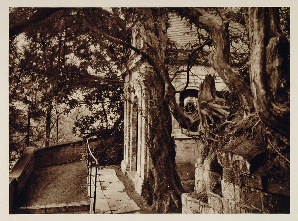 c1930 Chapel Kapel Mount St. Peter Maastricht Holland - ORIGINAL PHOTOGRAVURE