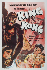 1977 Print King Kong 1933 Movie Poster Fay Wray Print - ORIGINAL HORROR
