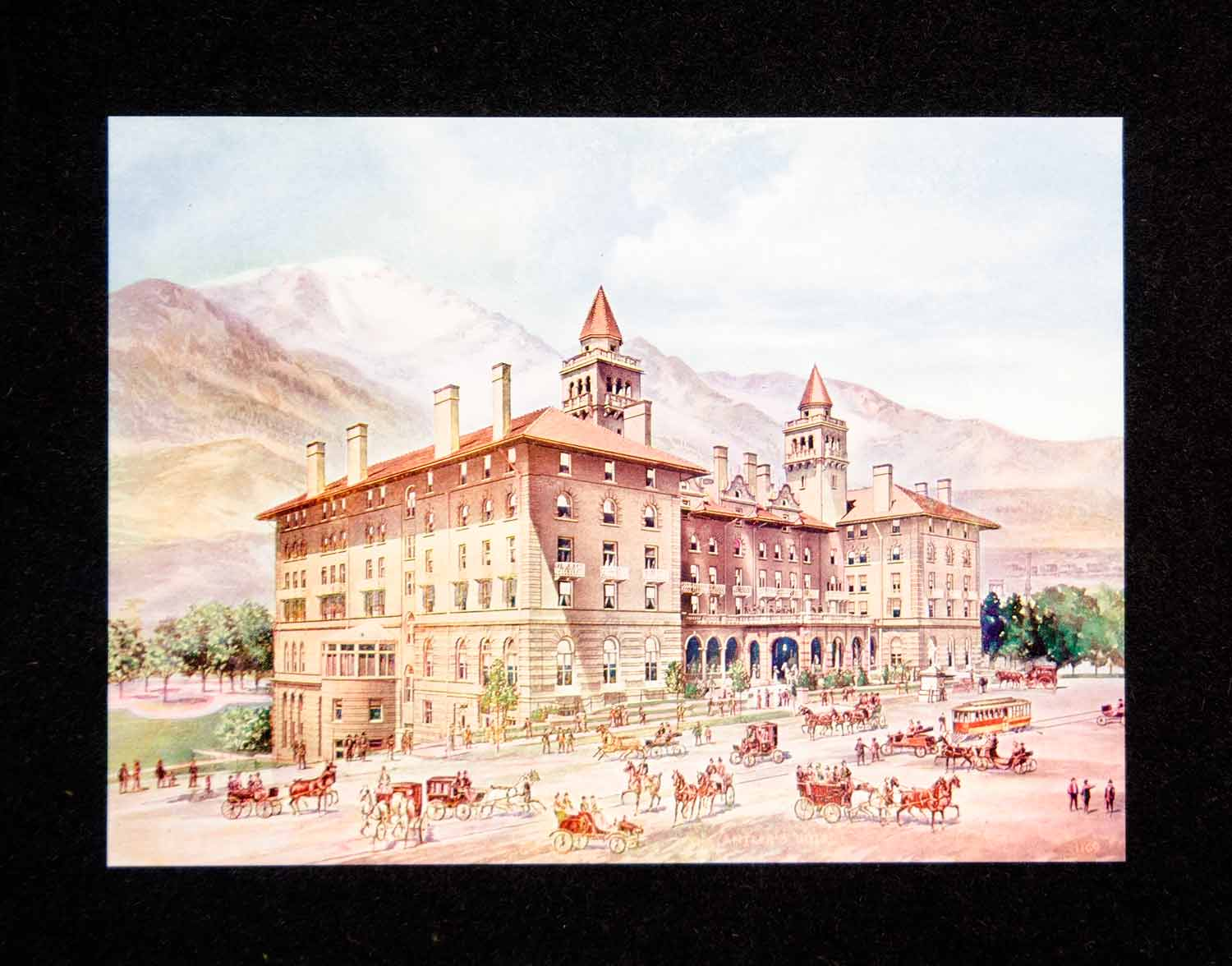 1906 Print Colorado Springs Antlers Hotel Historic Architecture Building HRC1