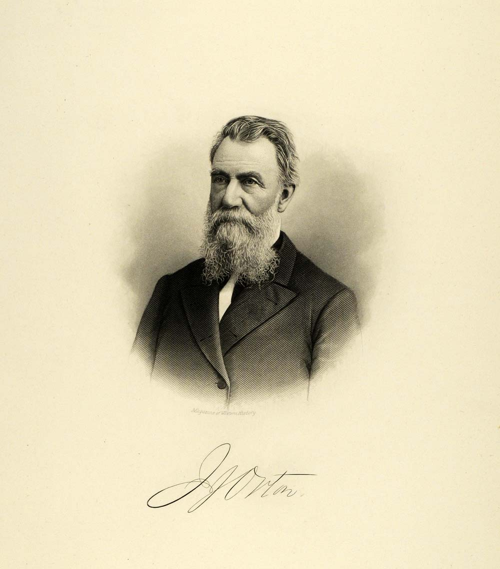 1895 Steel Engraving Portrait John J. Orton Milwaukee Lawyer Legislative HWC1