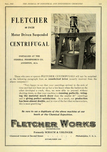 1922 Ad Centrifugal Motor Chemical Suspended Machinery Exposition IEC1