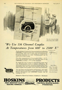 1922 Ad Chromel Heat Resistant Alloys Electric Furnaces Studebaker IEC1