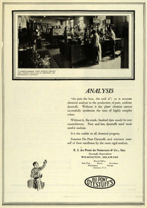1922 Ad Du Pont Dyestuffs Chemical Laboratory Science Experimental IEC1