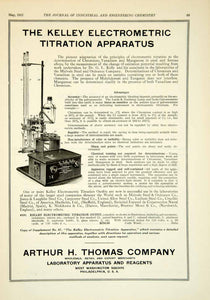 1922 Ad Arthur H Thomas Kelley Electrometric Titration Apparatus Science IEC2