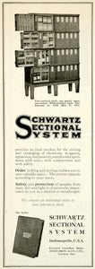 1922 Ad Schwartz Sectional System Filing Storage Cabinet Office Furniture IEC2