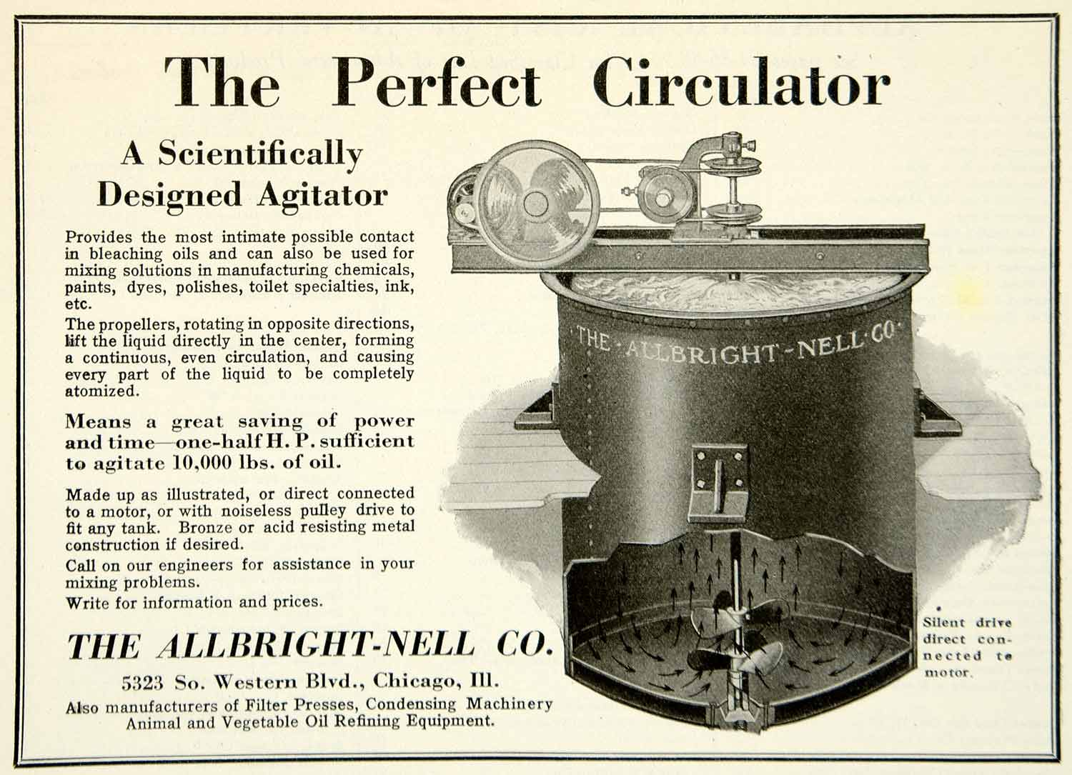 1921 Ad Allbright-Nell Agitator Industrial Machinery Manufacturing Plant IEC2