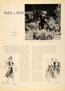 1939 French Fashion Dresses Rene Richard Simont Article - ORIGINAL ILL1
